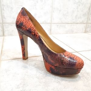 Nine West red/purple heel size 8M